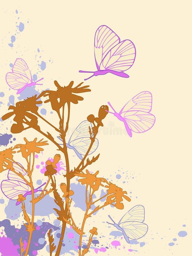 Priorità bassa floreale astratta colorata illustrazione di stock
