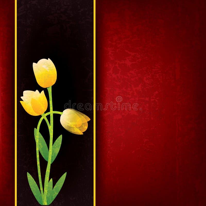 Priorità bassa floreale astratta con i fiori della sorgente illustrazione di stock