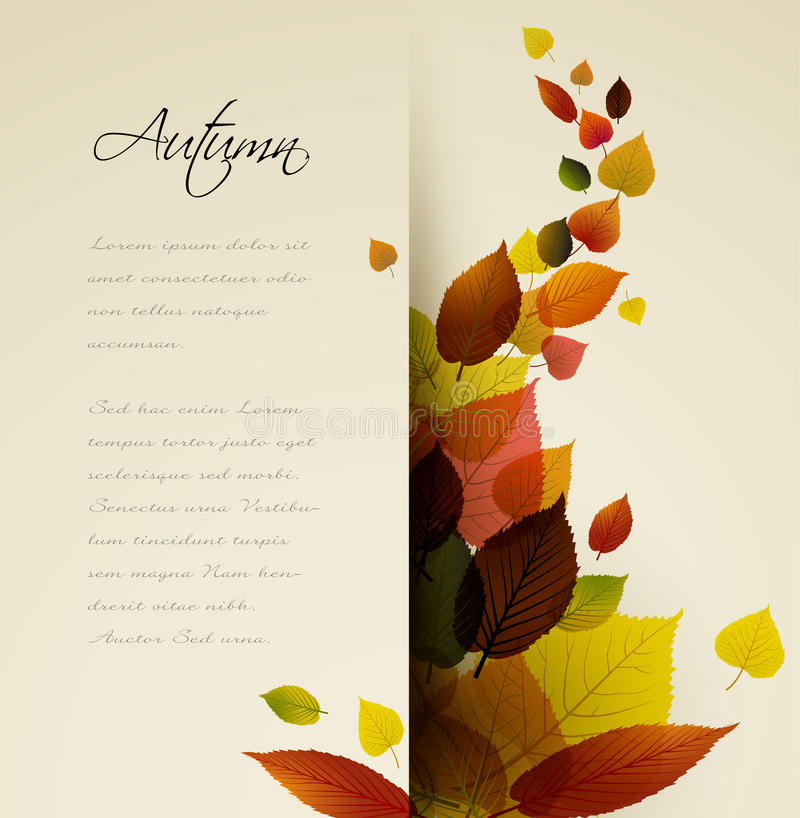 Priorità bassa floreale astratta di autunno illustrazione di stock