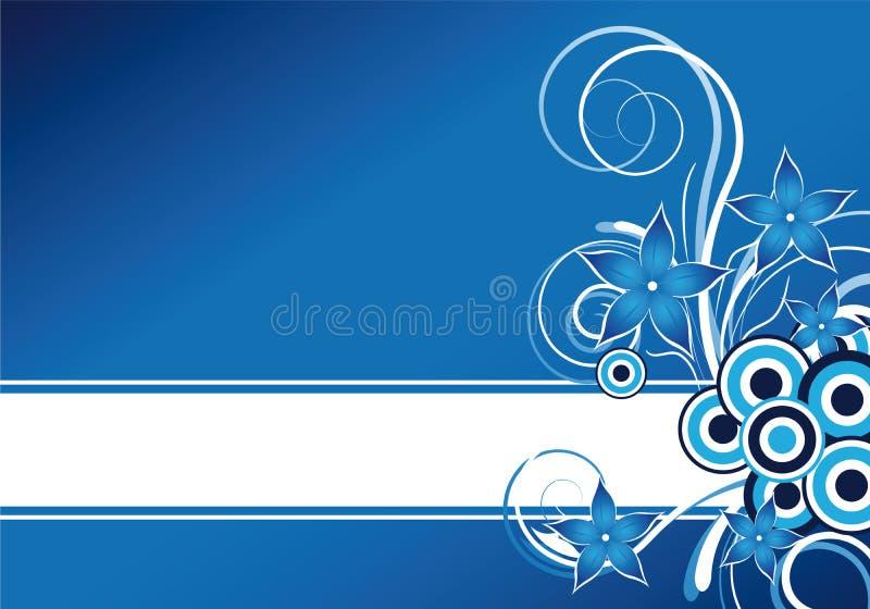 Priorità bassa floreale blu illustrazione di stock