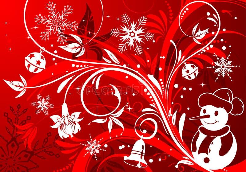 Download Priorità Bassa Floreale Con Il Pupazzo Di Neve Illustrazione Vettoriale - Illustrazione di nave, estratto: 7323595