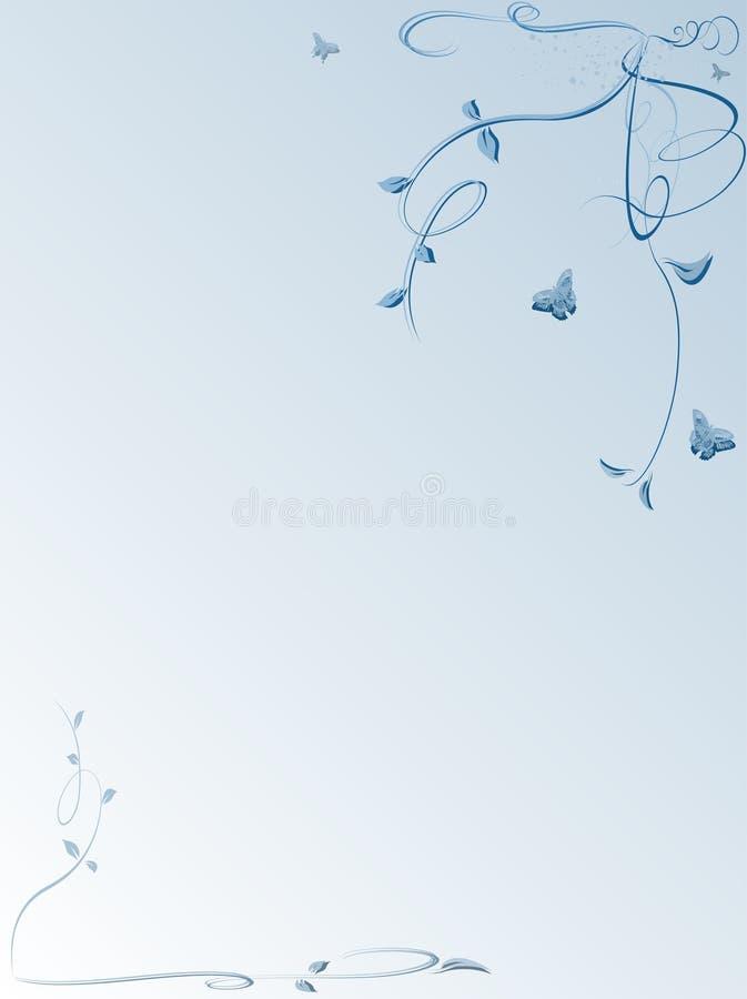 Priorità bassa floreale con le farfalle illustrazione vettoriale