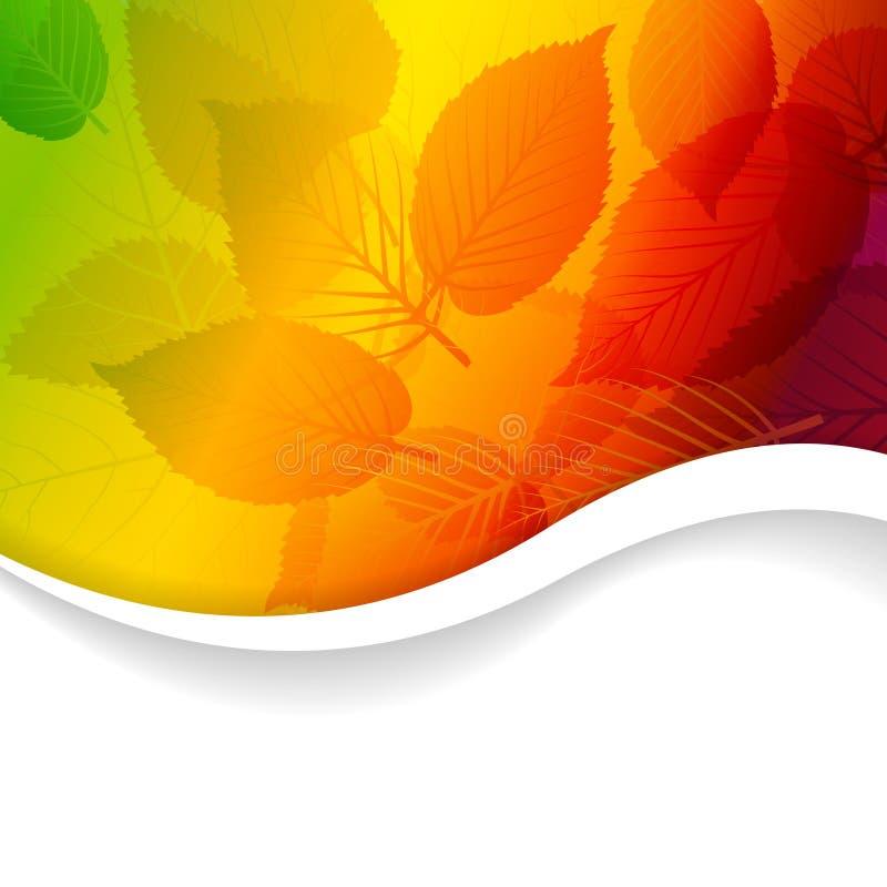 Priorità bassa floreale del Rainbow astratto di autunno illustrazione vettoriale