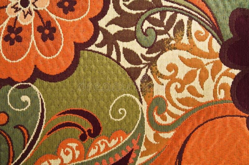 Priorità bassa floreale del tessuto della tappezzeria del cotone fotografia stock