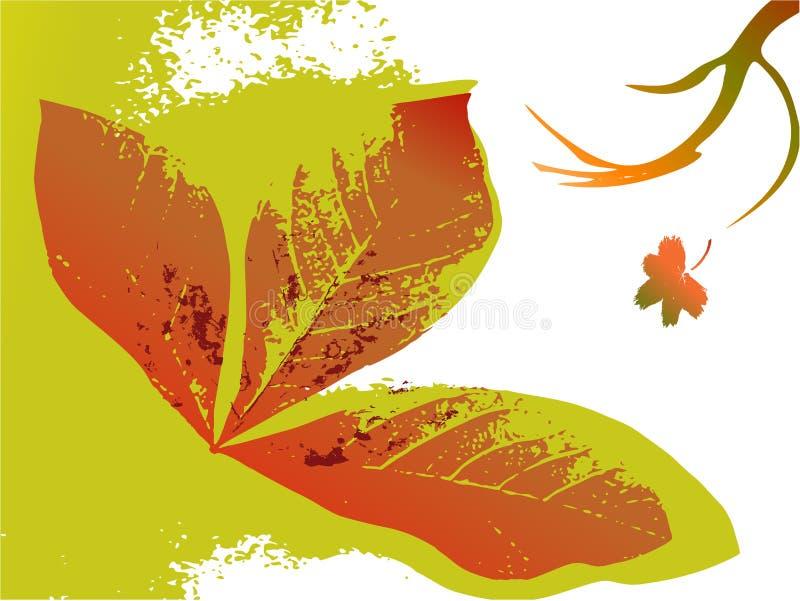 Priorità bassa floreale di autunno illustrazione di stock