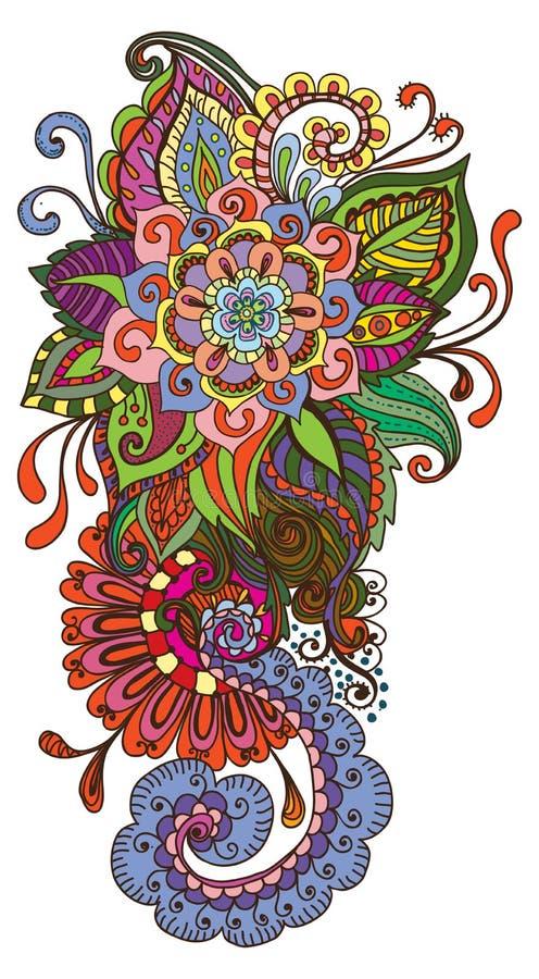Priorità bassa floreale di colore disegnato a mano royalty illustrazione gratis