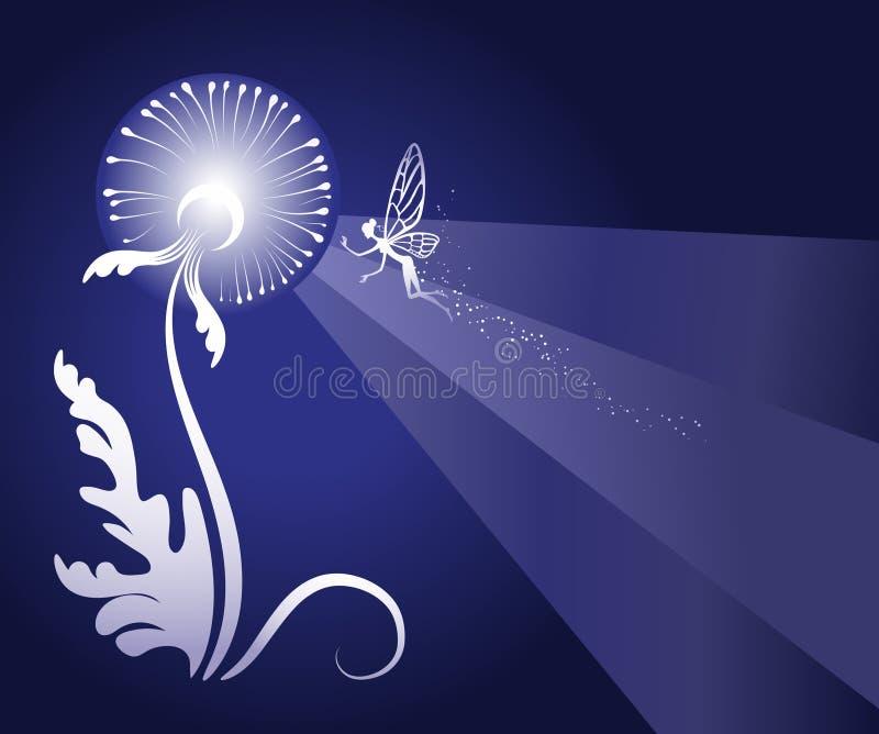 Priorità bassa floreale di Fairy-tale illustrazione vettoriale