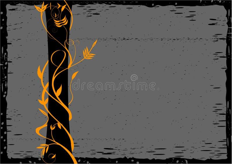 Priorità bassa floreale di Grunge royalty illustrazione gratis