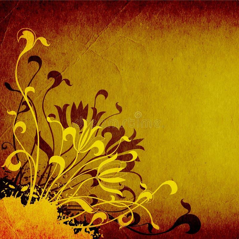 Priorità bassa floreale di Grunge illustrazione vettoriale