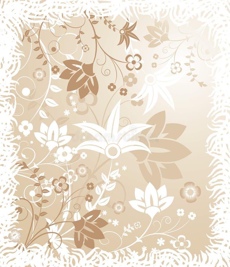 Priorità bassa floreale di Grunge, elementi per il disegno, vettore illustrazione di stock