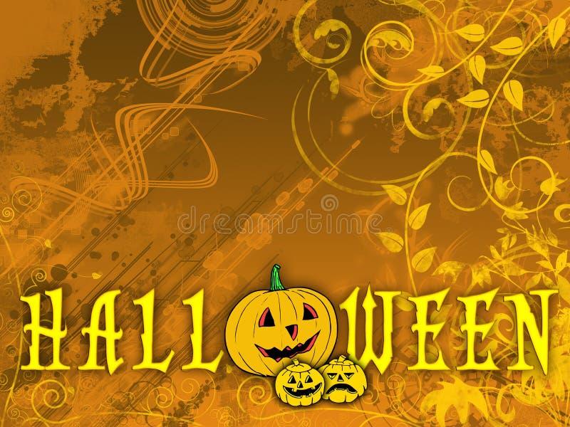 Priorità bassa floreale di Halloween illustrazione di stock