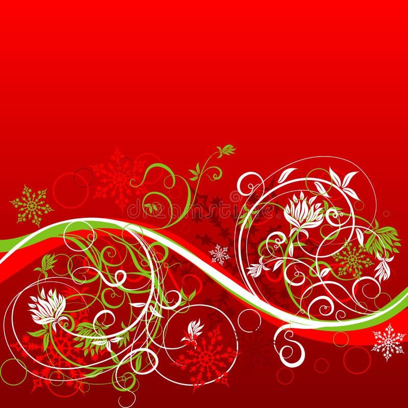 Priorità bassa floreale di inverno, vettore illustrazione di stock