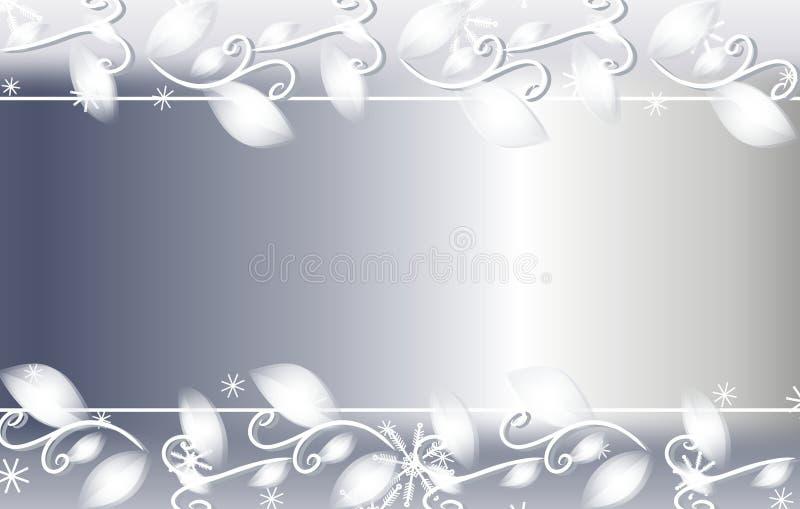 Priorità bassa floreale di natale d'argento illustrazione di stock
