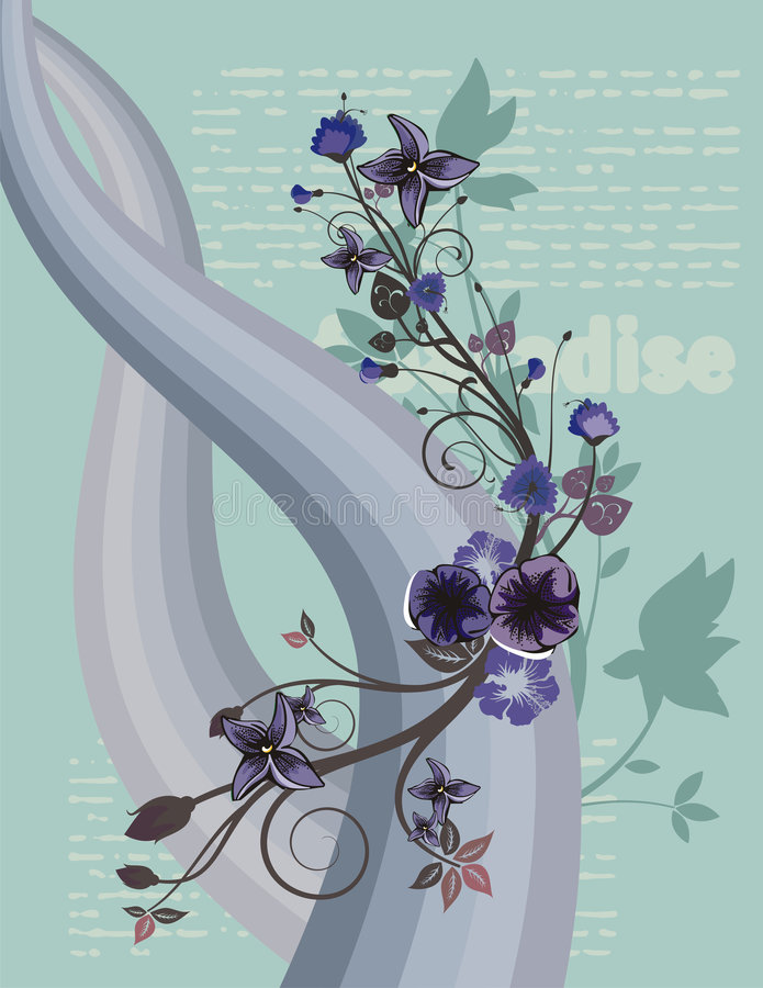 Priorità bassa floreale moderna royalty illustrazione gratis
