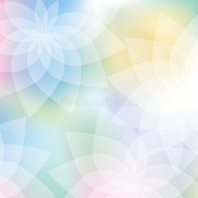Priorità bassa floreale nei colori pastelli illustrazione vettoriale