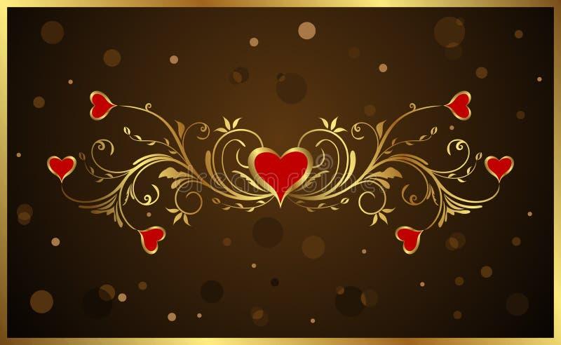 Priorità bassa floreale per il giorno del biglietto di S. Valentino illustrazione di stock