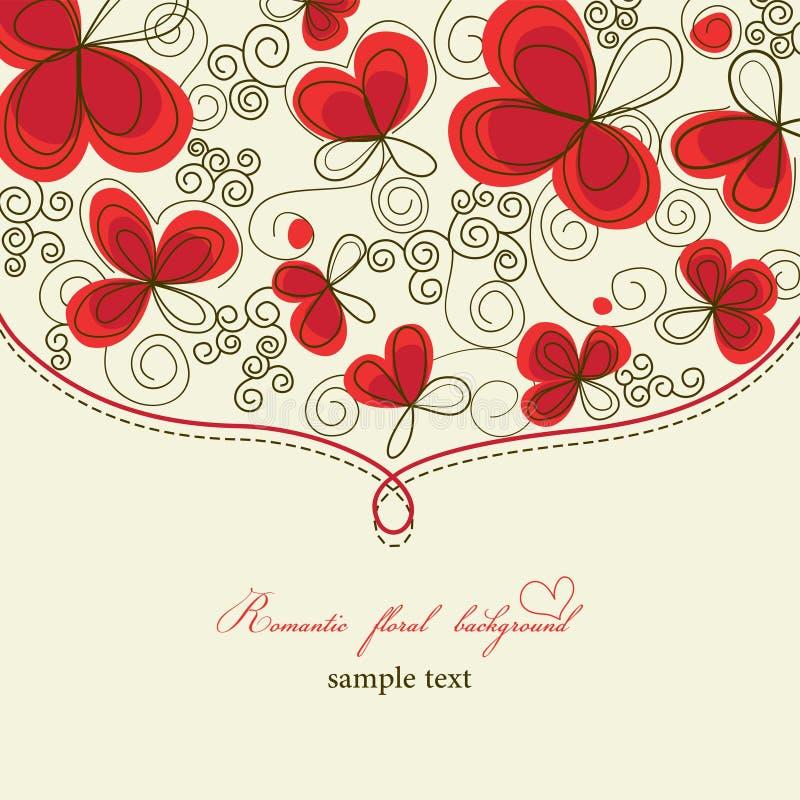 Priorità bassa floreale romantica sveglia illustrazione vettoriale