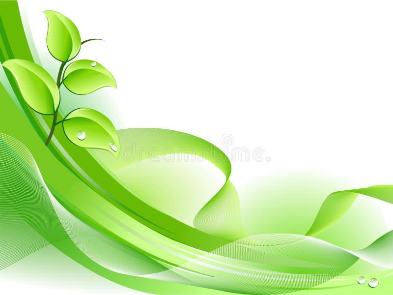 Priorità bassa fresca della pianta della sorgente illustrazione vettoriale