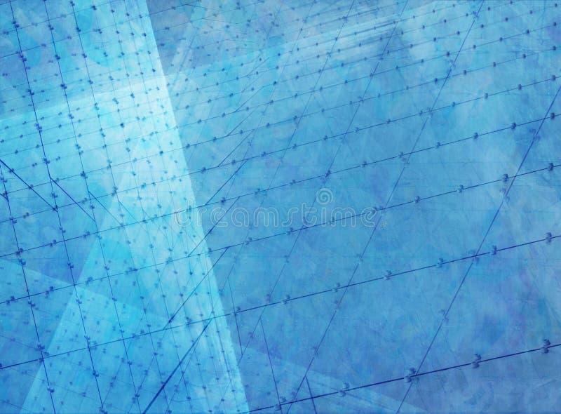 Priorità bassa geometrica blu fotografia stock libera da diritti