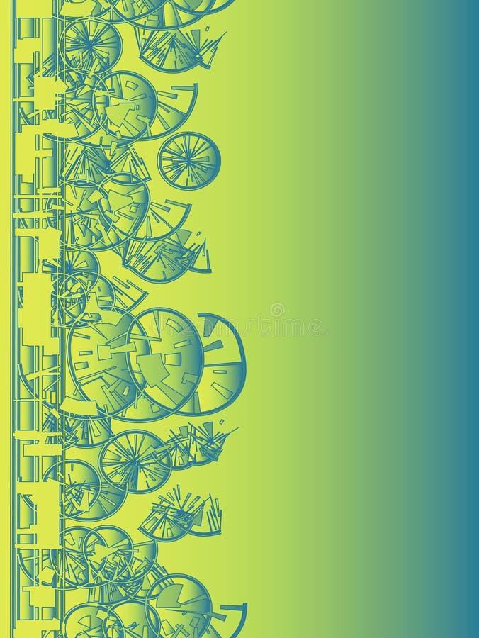 Priorità bassa geometrica di verde blu illustrazione di stock