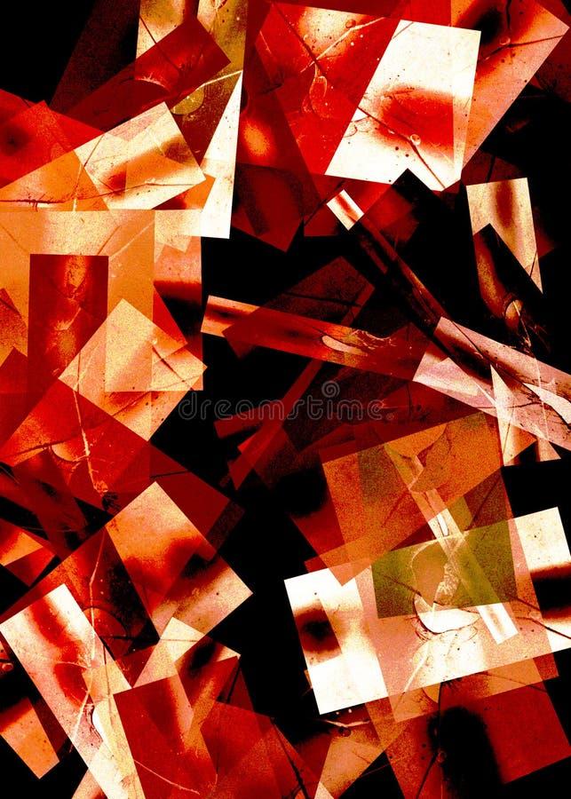 Priorità bassa geometrica rossa illustrazione vettoriale