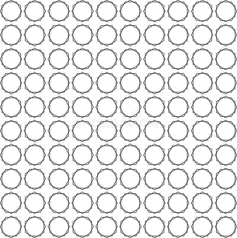 Priorità bassa geometrica senza giunte illustrazione di stock