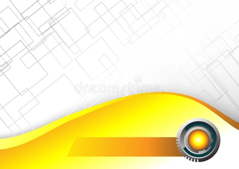 Priorità bassa gialla alta tecnologia astratta illustrazione di stock
