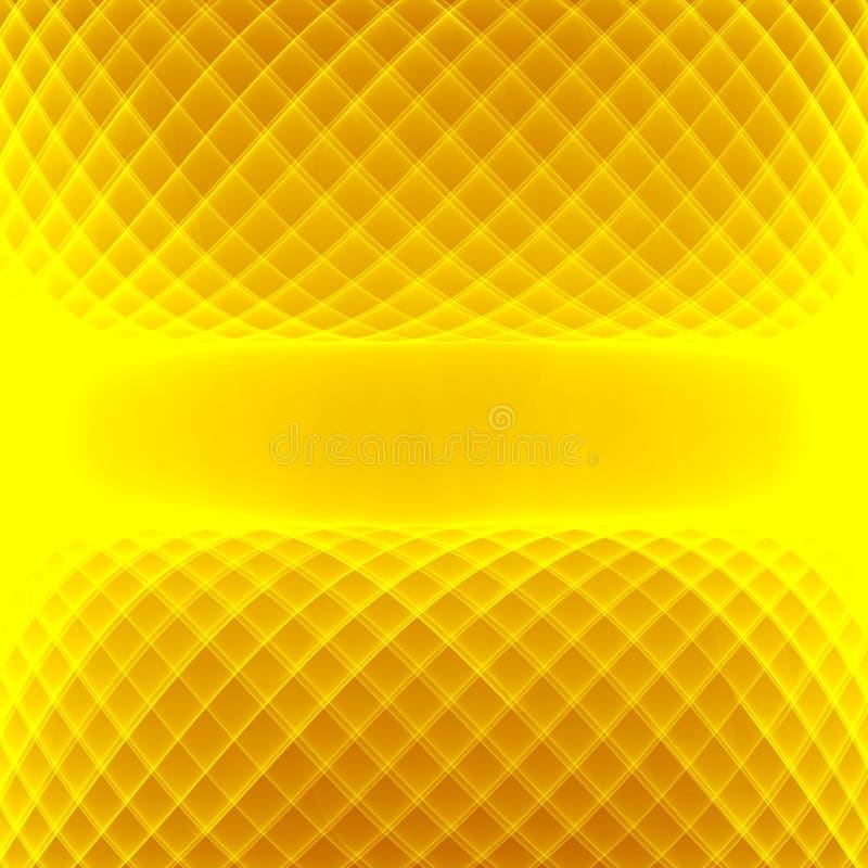 Priorità bassa gialla astratta Righe gialle di Brght Modello geometrico nei colori gialli e marroni illustrazione di stock