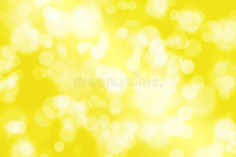 Priorità bassa gialla con bokeh fotografie stock libere da diritti