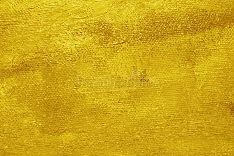 Priorità bassa gialla della pittura ad olio fotografia stock libera da diritti
