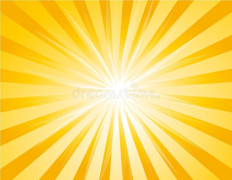 Priorità bassa gialla dello sprazzo di sole illustrazione di stock
