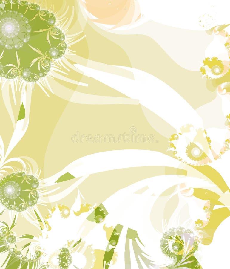 Priorità bassa gialla e verde illustrazione di stock