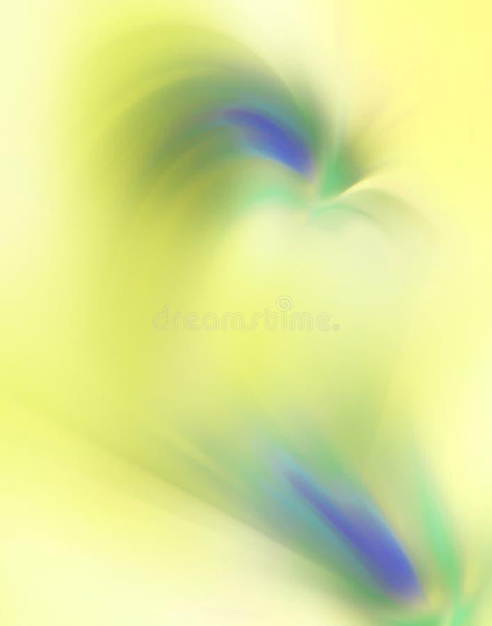 Priorità bassa gialla, verde e blu astratta immagine stock libera da diritti