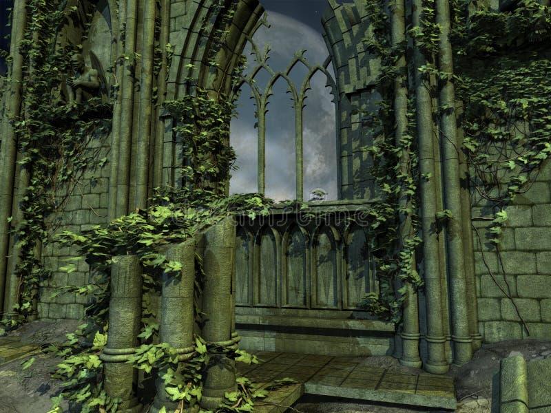 Priorità bassa gotica illustrazione di stock
