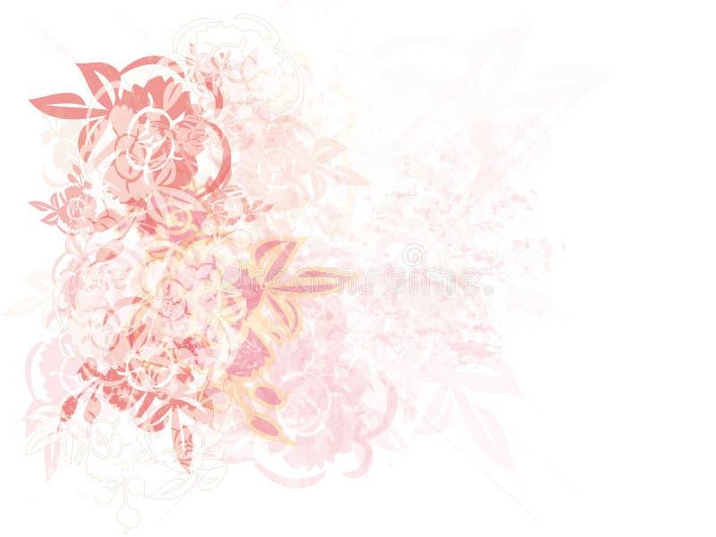 Priorità bassa Grungy delle rose royalty illustrazione gratis