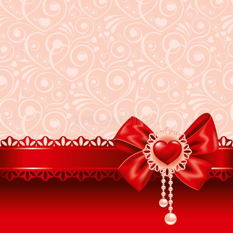 Priorità bassa il giorno dei biglietti di S. Valentino royalty illustrazione gratis