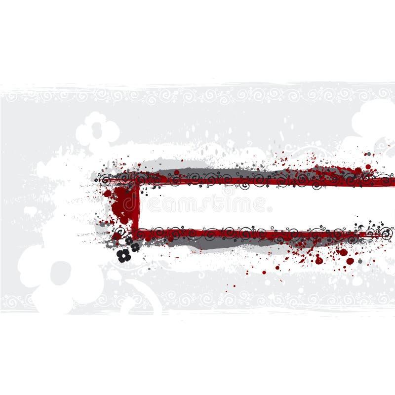 Priorità bassa, illustrazione della bandiera illustrazione di stock