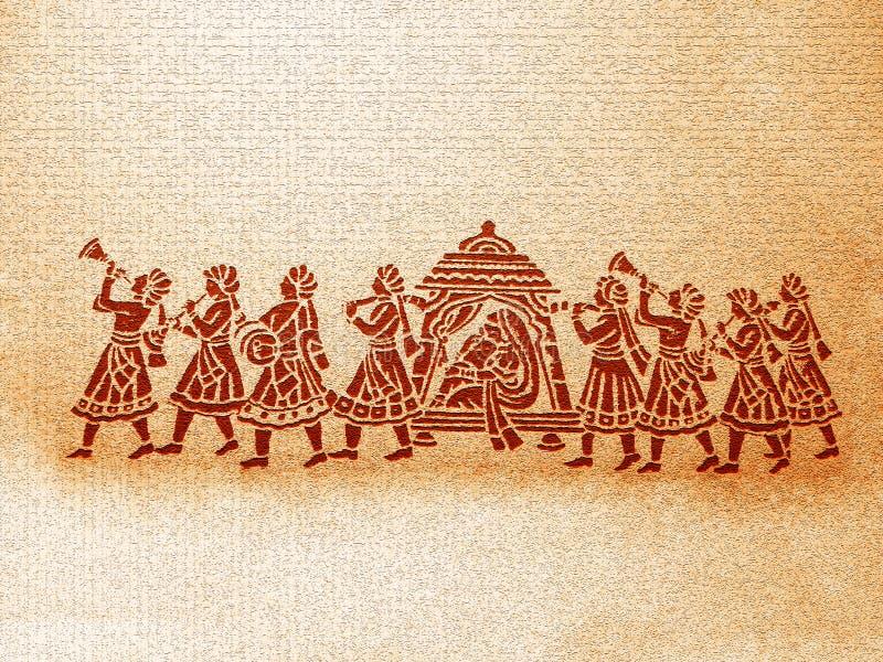 Priorità bassa indiana di cerimonia nuziale immagine stock libera da diritti