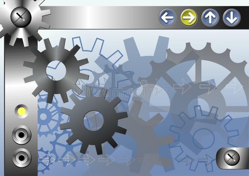 Priorità bassa industriale illustrazione di stock