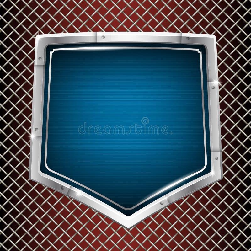 Priorità bassa industriale Acciaio inossidabile Pagina sotto forma di schermo pentagonale illustrazione di stock