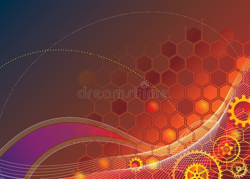 Priorità bassa industriale di tecnologia illustrazione vettoriale