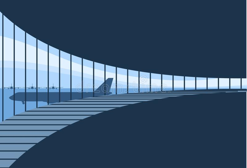 Priorità bassa interna del terminale di aeroporto royalty illustrazione gratis