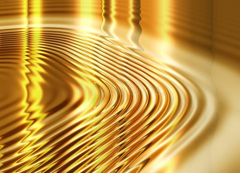 Priorità bassa liquida dell'oro illustrazione di stock