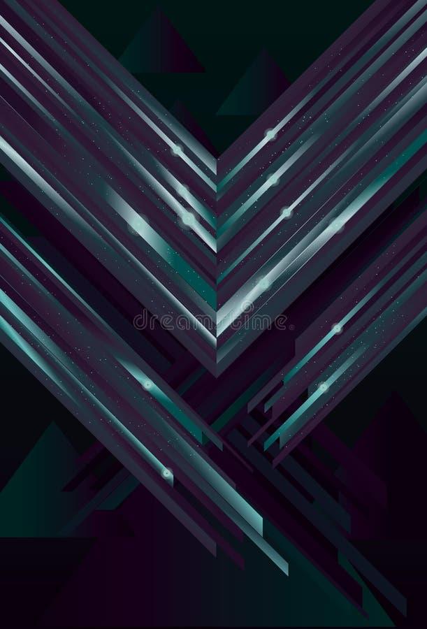 Priorità bassa lucida del triangolo illustrazione vettoriale