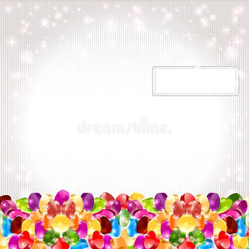 Priorità bassa lucida della caramella del Rainbow del cerchio di colore illustrazione di stock