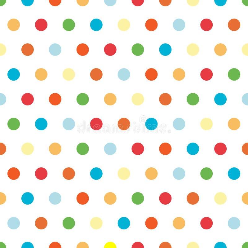 Priorità bassa luminosa dei puntini di Polka illustrazione di stock
