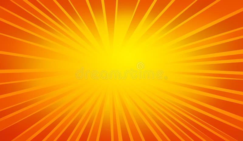 Priorità bassa luminosa dei raggi illustrazione vettoriale