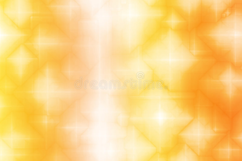 Priorità bassa magica bianca arancione dell'estratto di fantasia illustrazione vettoriale