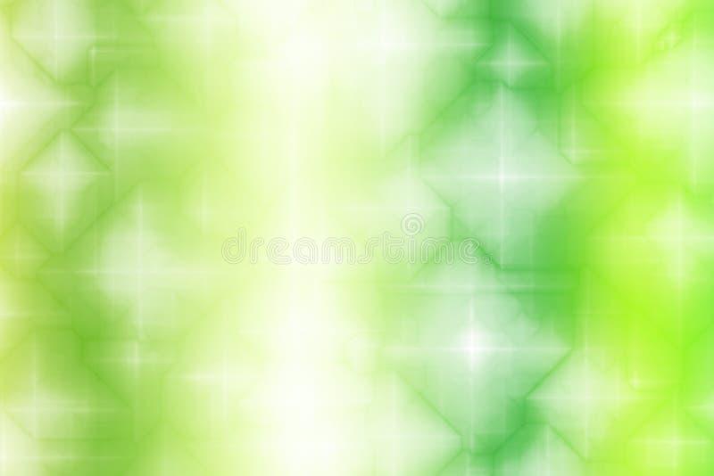 Priorità bassa magica verde chiaro dell'estratto di fantasia illustrazione di stock