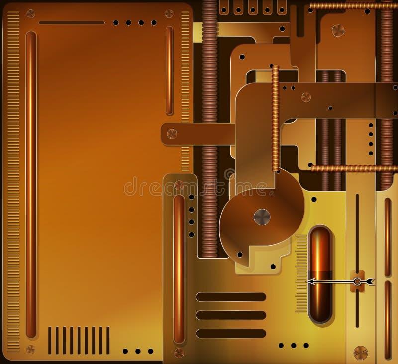 Priorità bassa meccanica illustrazione vettoriale